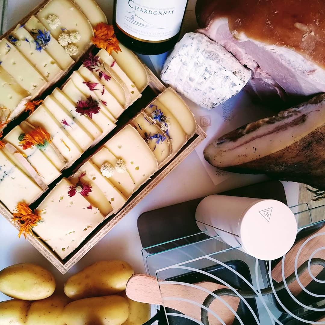Plateau raclette décoré